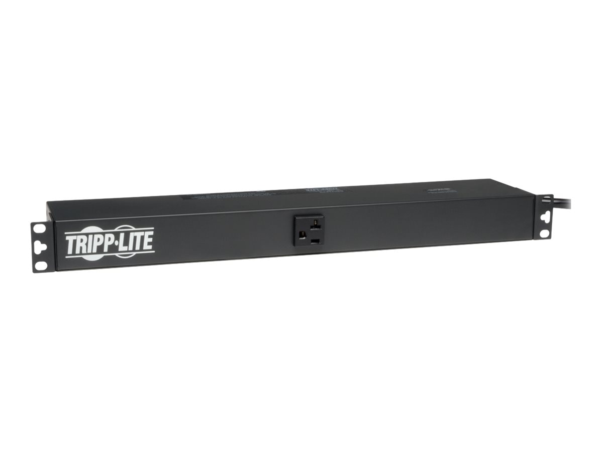 Tripp Lite PDU Basic 120V 20A 5-15 20R (13) Outlet 5-20P Horizontal 1U RM, PDU1220, 364408, Power Distribution Units