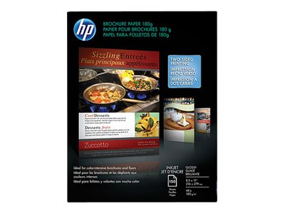 HP Brochure & Flyer paper 8.5 x 11,44lb,150 sheets, Q1987A