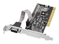 Siig DP 1-port RS-232 Serial PCI Dual Profile 16550 UART Card, JJ-P01311-S1, 13236135, Controller Cards & I/O Boards