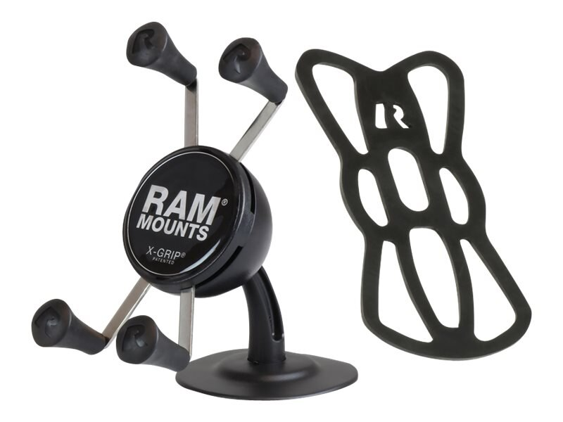 Ram Mounts Lil Buddy Adhesive Stick Base Mount with Universal X-Grip Cell Phone Cradle