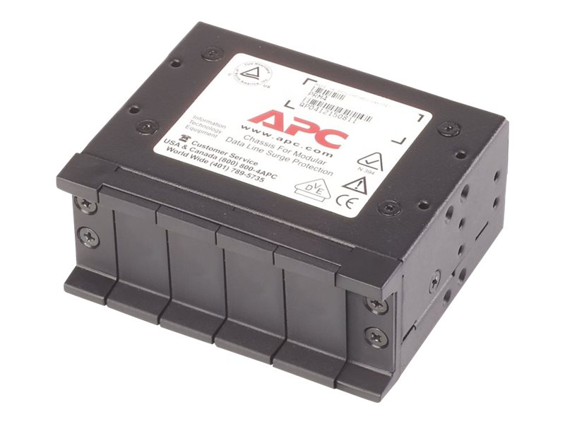 APC 4 Position Chassis, 1U, for Replaceable Data Line Surge Protection Modules, PRM4