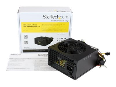 StarTech.com 430 Watt ATX12V 2.3 80 Plus Computer Power Supply w  Active PFC, ATX2PW430WH, 16394770, Power Supply Units (internal)