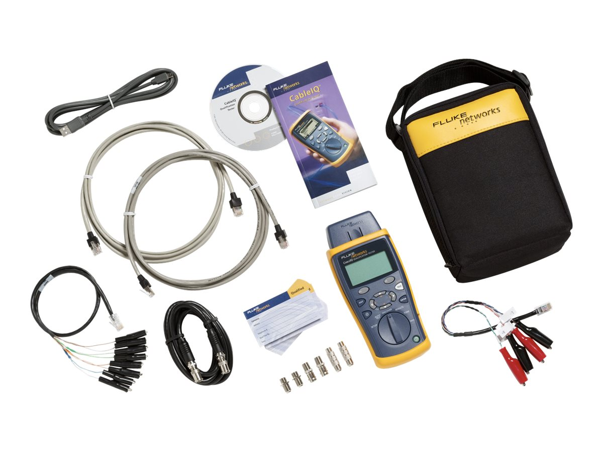Fluke CableIQ Residential Qualifier Kit CIQ-KRQ, CIQ-KRQ, 5939914, Network Test Equipment