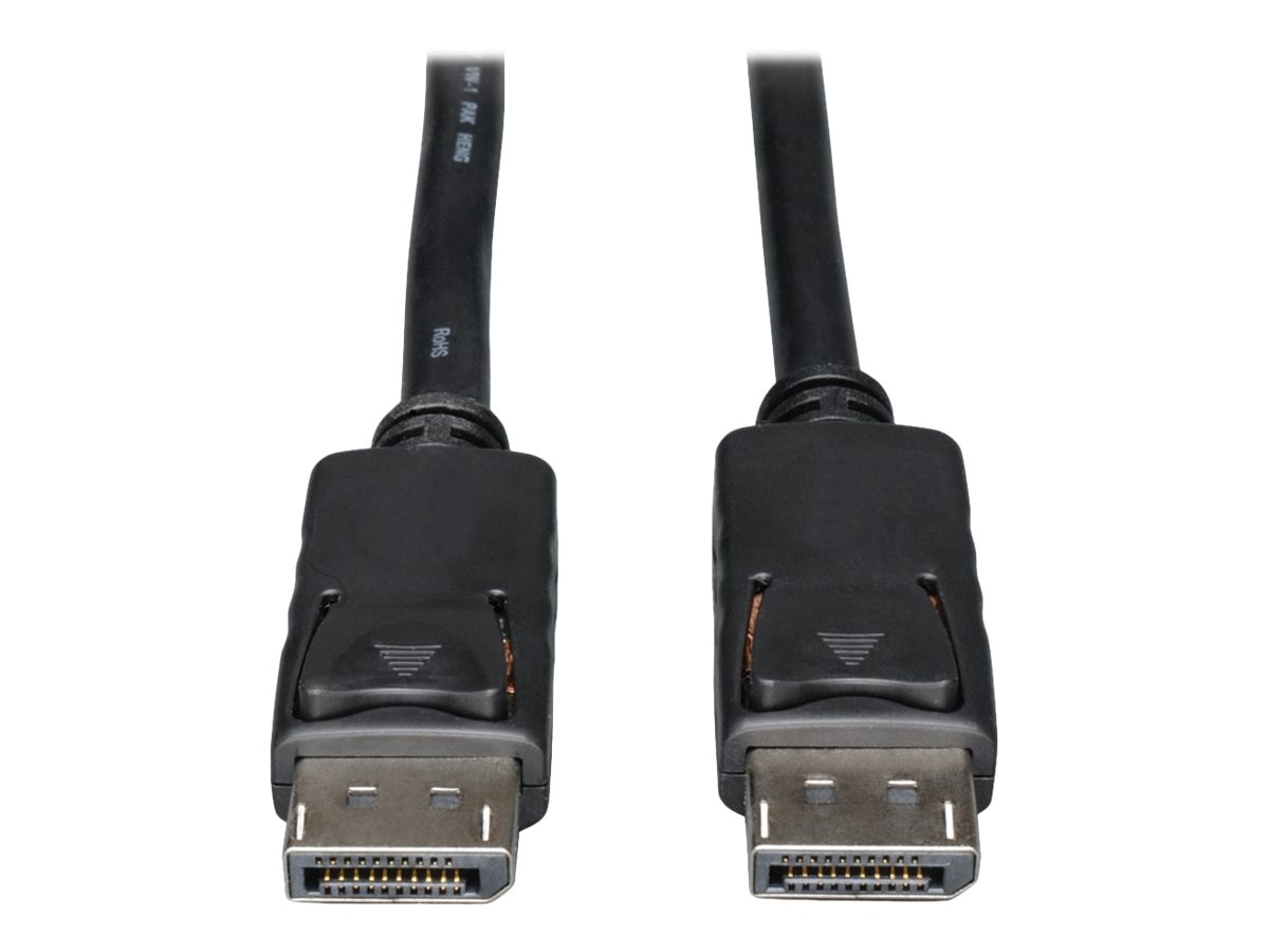 Tripp Lite DisplayPort M M Cable with Latches, Black, 1ft