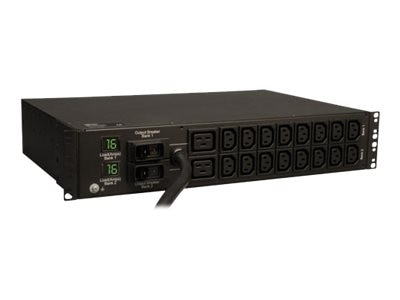 Tripp Lite PDU Metered 230V 32A 7.3kW (16) C13 (2) C19 IEC-309 Horizontal 2U RM, PDUMH32HV, 12858291, Power Distribution Units