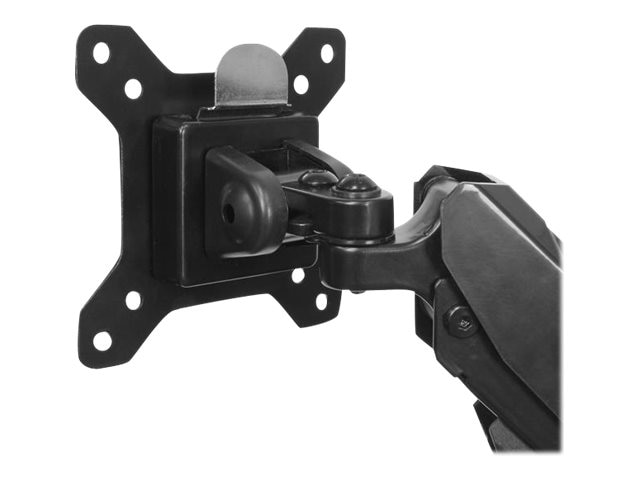StarTech.com Dual Monitor Mount with Built-in 2-port USB and Audio Pass-Through, Black, ARMSLIMDUO