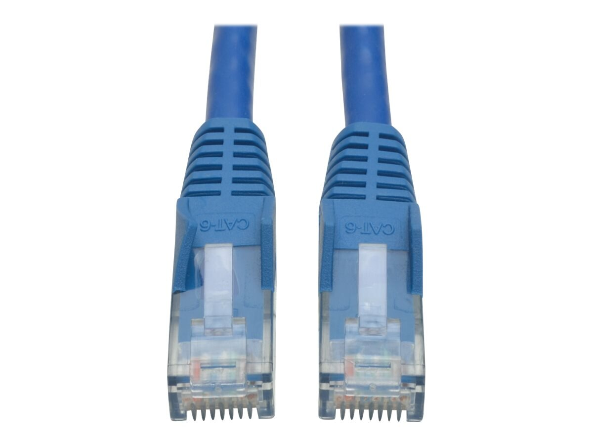 Tripp Lite Cat6 UTP Snagless Molded Patch Cable, Blue, 14ft, N201-014-BL