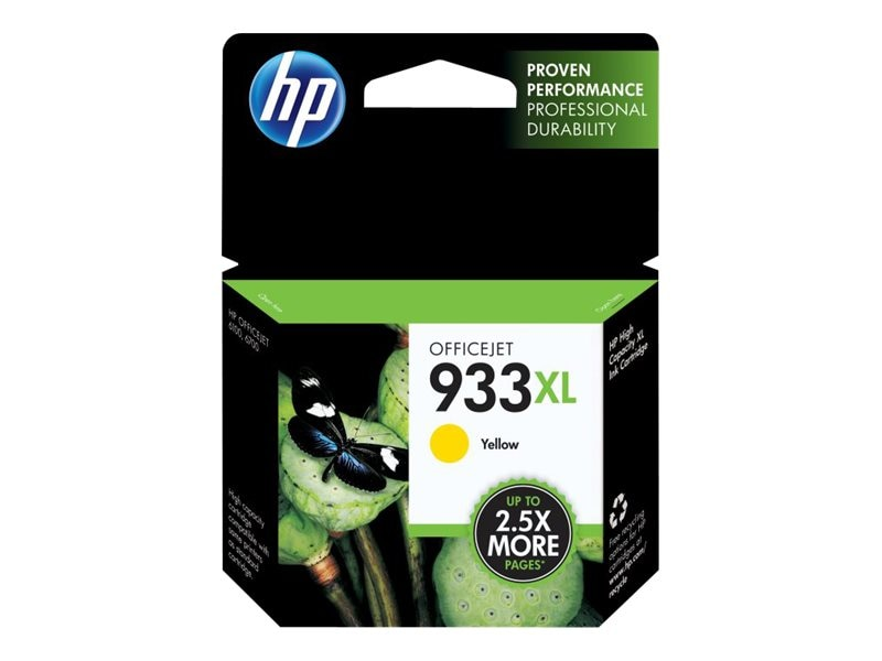 HP 933XL (CN056AN) High Yield Yellow Original Ink Cartridge, CN056AN#140, 13469545, Ink Cartridges & Ink Refill Kits