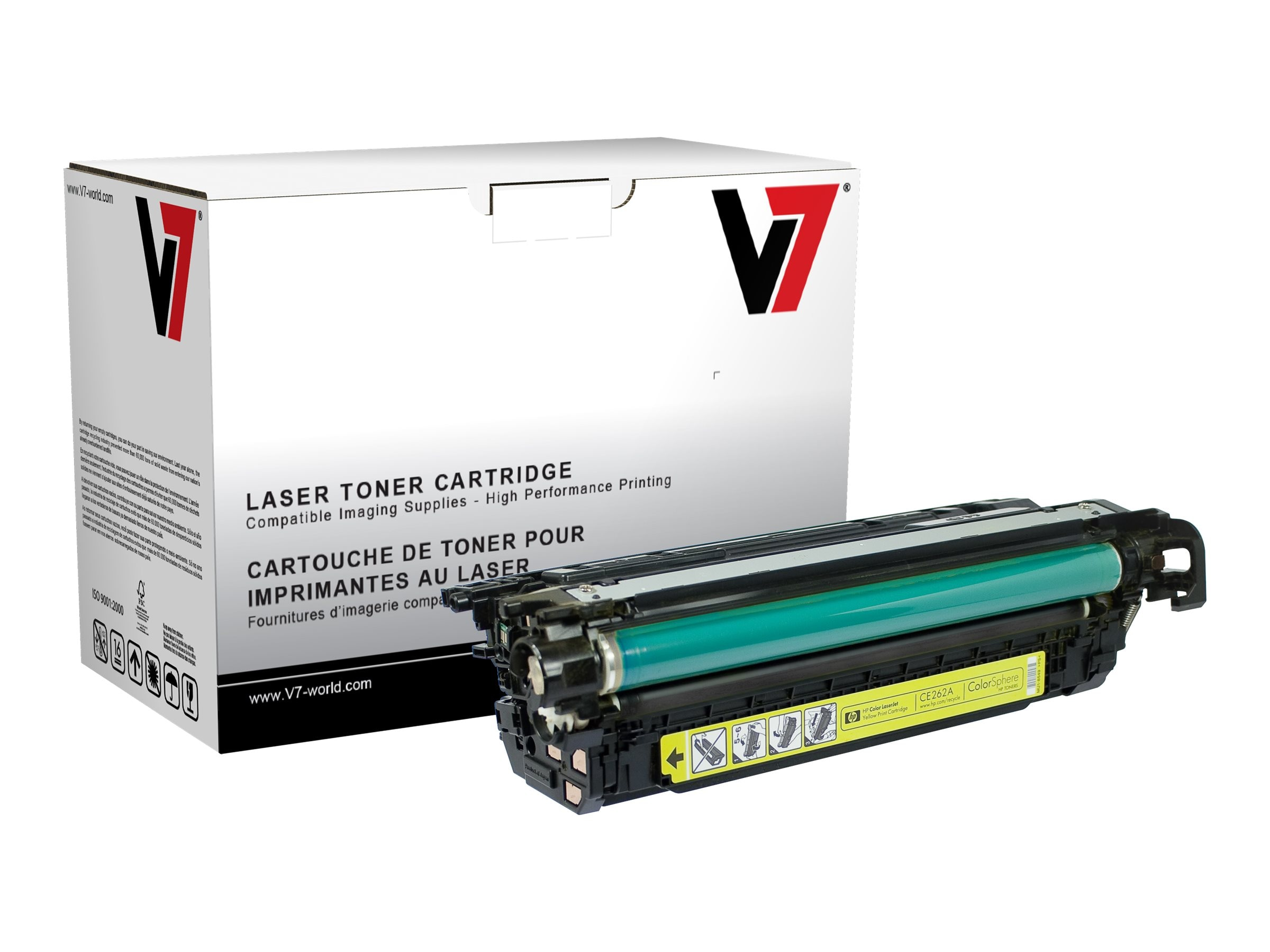 V7 CE263A Magenta Toner Cartridge for HP LaserJet CP4025 4525 (TAA Compliant), THM2262A