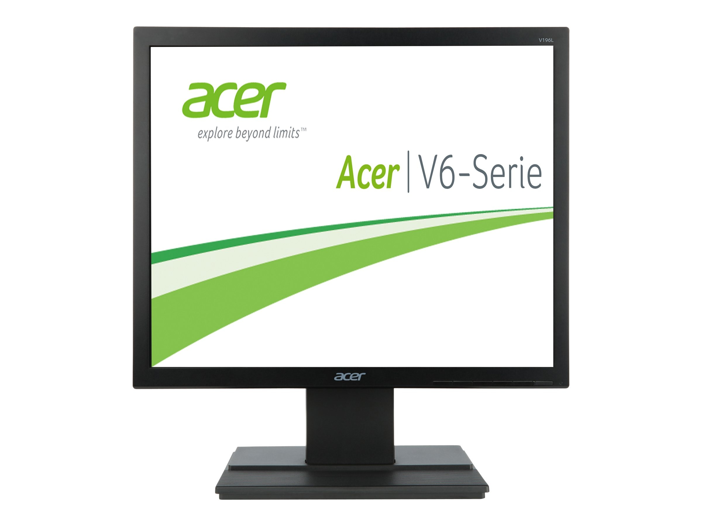 Acer 19 V196L b LED-LCD Monitor, Black, UM.CV6AA.005, 16450233, Monitors - LED-LCD