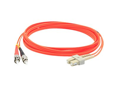 ACP-EP ST-SC 62.5 125 OM1 Multimode LSZH Duplex Fiber Cable, Orange, 1m