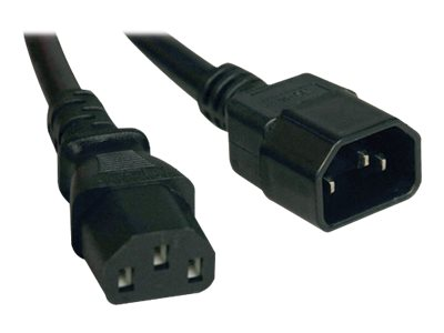 Tripp Lite AC Power Extender Cord IEC-320 C14 to IEC-320 C13 100-250V 13A 16AWG SJT Black 6ft, P004-006-13A, 16275842, Power Cords