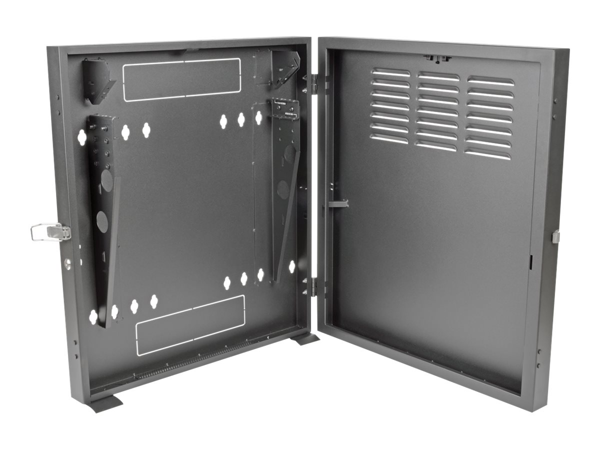 Tripp Lite SmartRack 2U Low-Profile Vertical-Mount Switch-Depth Wall-Mount Rack Enclosure Cabinet, SRWF2U