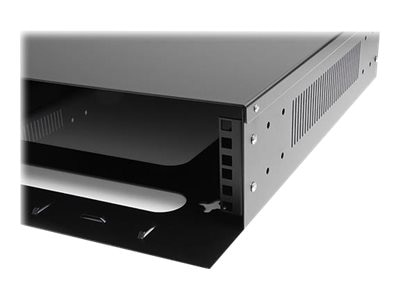 StarTech.com Horizontal Wall Mountable Server Rack, 2U x 19, Steel, Black, RK219WALVO