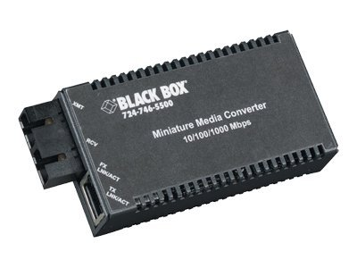 Black Box MultiPower Miniature Media Converter 10 100 1000TX 1000 SSLX SC SM