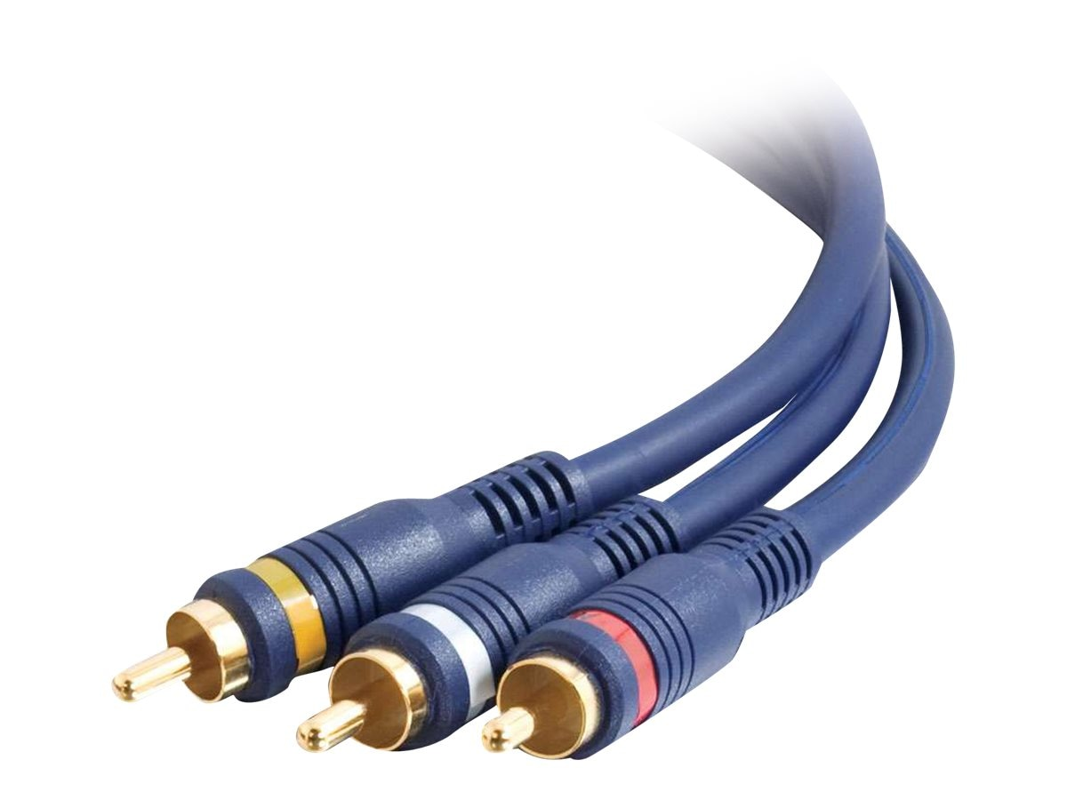 C2G RCA Audio Video Interconnect Cable, RCA (M-M), Velocity Series, 50ft