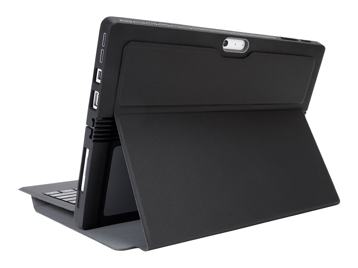 Targus 2-in-1 Folio Wrap+ Case for MS Surface Pro 4, Black Gray, THZ618GL