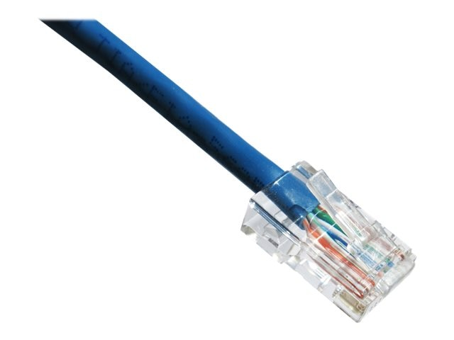 Axiom CAT6 550MHz UTP Bootless Patch Cable, Blue, 1ft, TAA