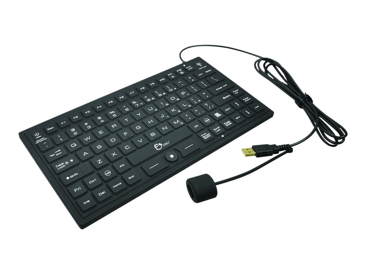 Siig Industrial Med Grade Washable Backlit 89-key Keyboard w  Pointing Device, USB, JK-US0911-S1