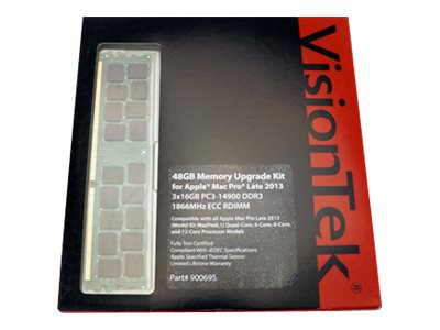 VisionTek 48GB PC3-14900 240-pin DDR3 SDRAM RDIMM Kit for Mac Pro (Late 2013)