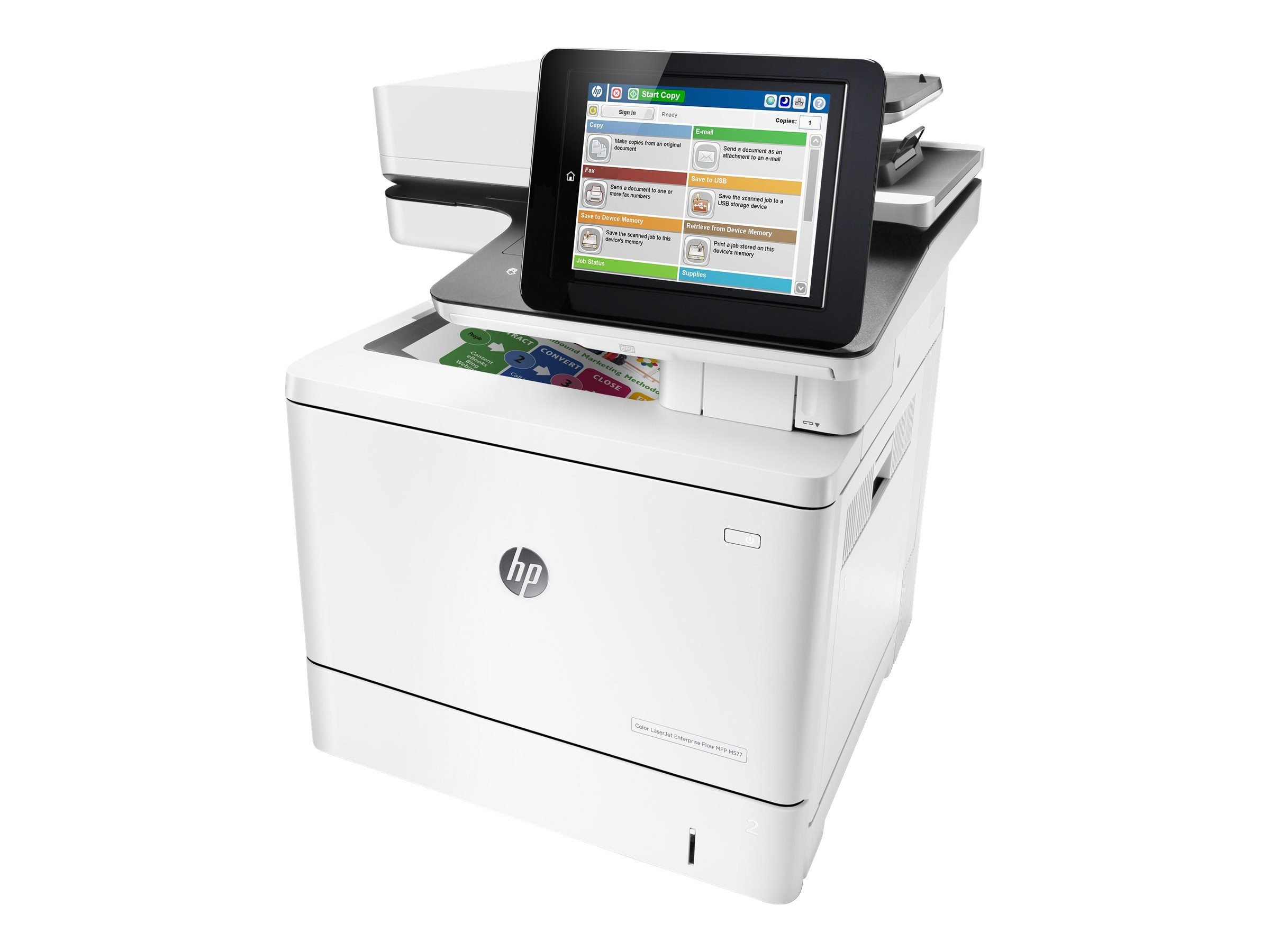HP Color LaserJet Enterprise Flow MFP M577z, B5L48A#BGJ, 30779131, MultiFunction - Laser (color)