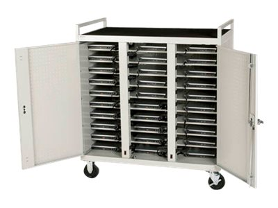Lenovo 30-Unit Welded UL Notebook Computer Cart with Timer, 0A61316, 17077477, Computer Carts