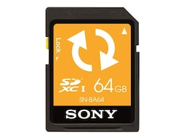 Sony 64GB SD Memory Card with Backup Function, SNBA64, 30710978, Memory - Flash
