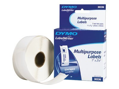 DYMO Multi Purpose Labels 1 inch x 2.125 inch Labels, 30336