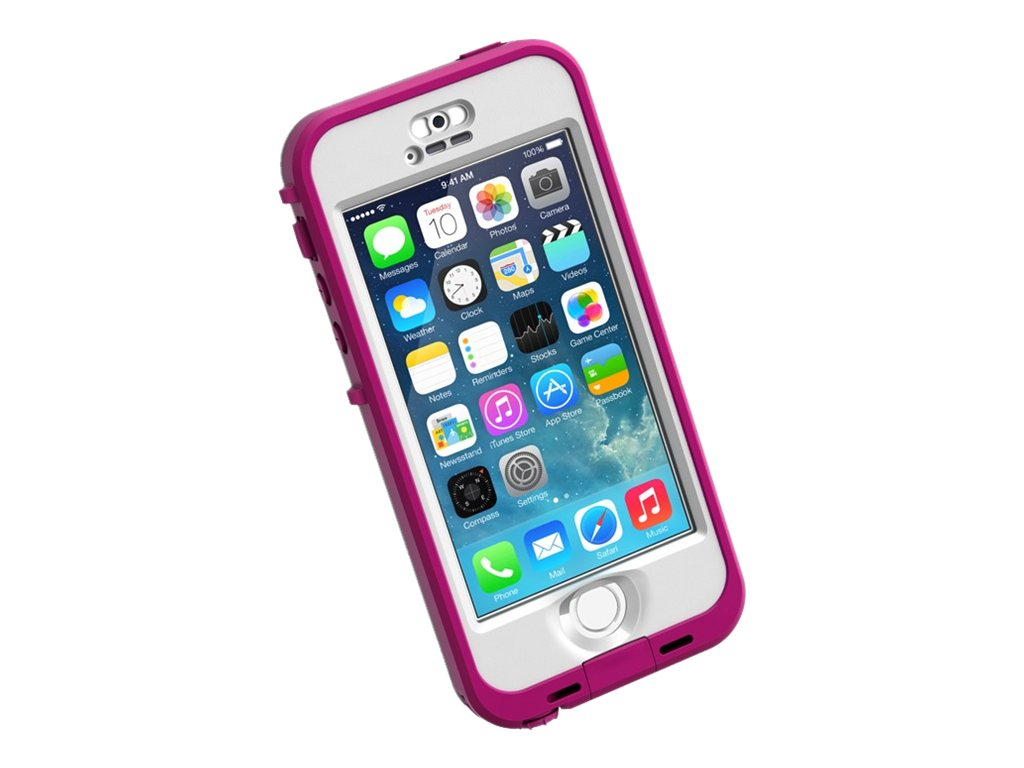 Lifeproof Nuud Case Blaze for iPhonE 5 5S, Pink Clear, 2105-03, 18817318, Carrying Cases - Phones/PDAs