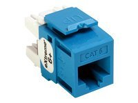 Leviton eXtreme Cat6 QuickPort Snap-In Connector, Blue, 61110-RL6, 8595117, Cable Accessories