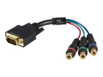 StarTech.com Component RCA Breakout Cable Adapter (M-F), 6in, HD15CPNTMF, 9684322, Adapters & Port Converters
