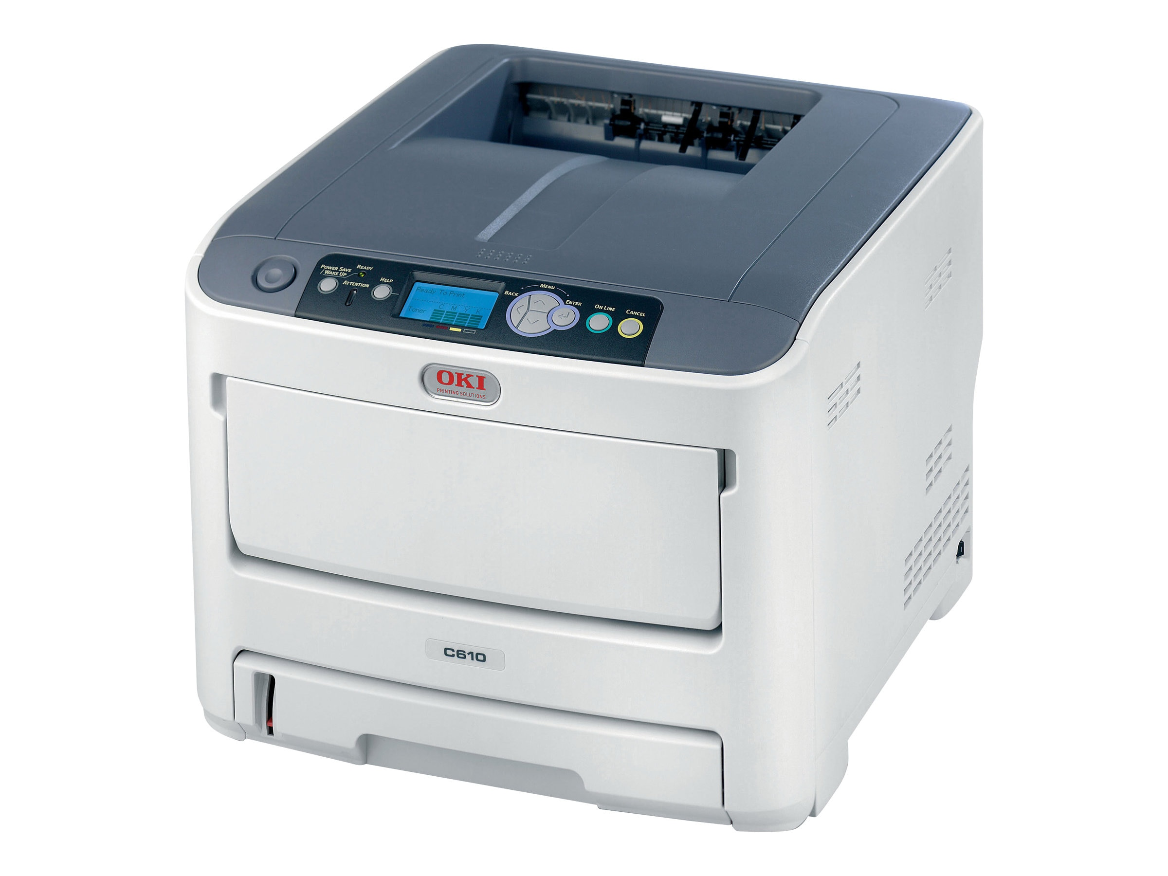 Oki C610n Digital Color Printer (Multilingual), 62446701