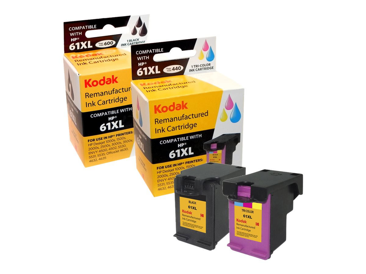 Kodak CZ138FN Black Tri-Color Ink Cartridges for HP, CZ138FN-KD