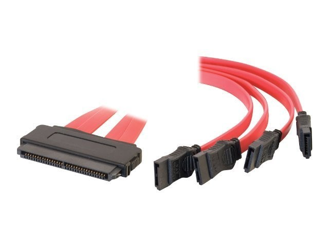 C2G SAS 32-pin to 4 SATA Cable, 1m, 10249, 7415671, Cables