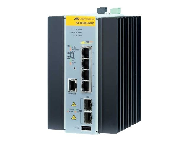 Allied Telesis Industrial 6-Port Gigabit POE Switch