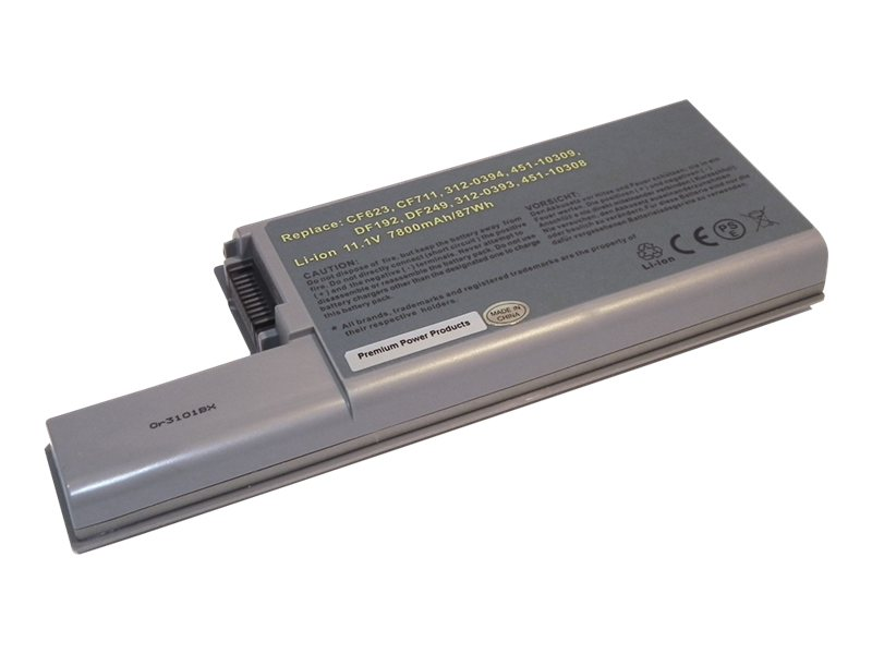 Ereplacements High capacity laptop battery for Dell Latitude D531, D531N, D820, D830, M65, YD623, DF192, 312-0402-ER, 8885940, Batteries - Notebook