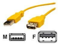 Bytecc USB 2.0 Type A M F Extension Cable, Yellow, 6ft