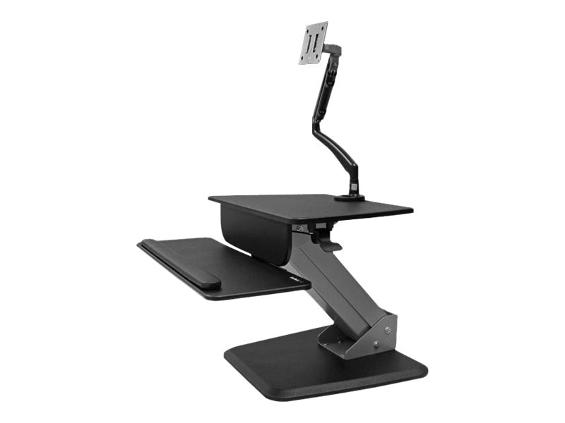 StarTech.com Sit-to-stand Workstation with Articulating Monitor Arm, Black