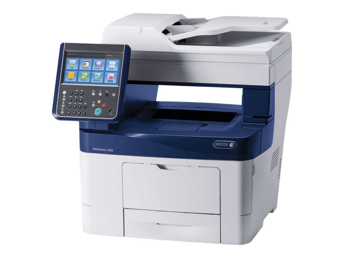 Xerox WorkCentre 3655 X Monochrome Multifunction Printer, 3655/X, 17727724, MultiFunction - Laser (monochrome)