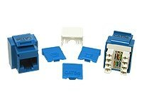 C2G Cat5e RJ-45 Keystone Jack Blue, 03796, 5915710, Premise Wiring Equipment