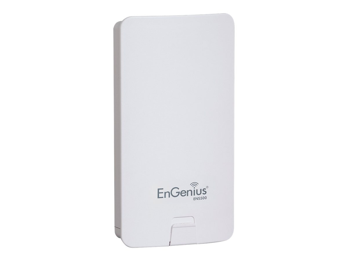 Engenius Technologies High-Powered, Long-Range 5 GHz Wireless N300 Outdoor Client Bridge, ENS500, 15462654, Wireless Access Points & Bridges