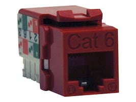 Tripp Lite Cat6 Cat5e 110 Style Punch Down Keystone Jack, Red, N238-001-RD, 10972874, Premise Wiring Equipment