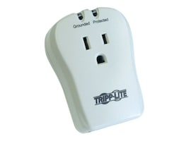 Tripp Lite TravelCube Surge Protector Direct Plug-in 1080 Joules (1) Outlet, Phone Line Protection, TRAVELCUBE, 443853, Surge Suppressors