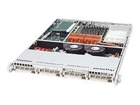 Supermicro 1U, 4xHDD Trays, Black, CSE-813TQ-500B, 9685747, Cases - Systems/Servers