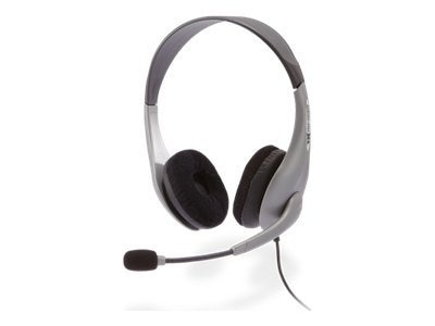 Cyber Acoustics AC-404 Stereo Headset with Boom Mic, AC-404, 12934986, Headsets (w/ microphone)