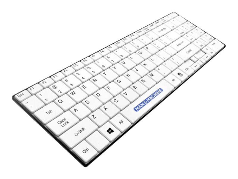 Man & Machine Itscool Keyboard Open Style, Washable, Value Keyboard, White