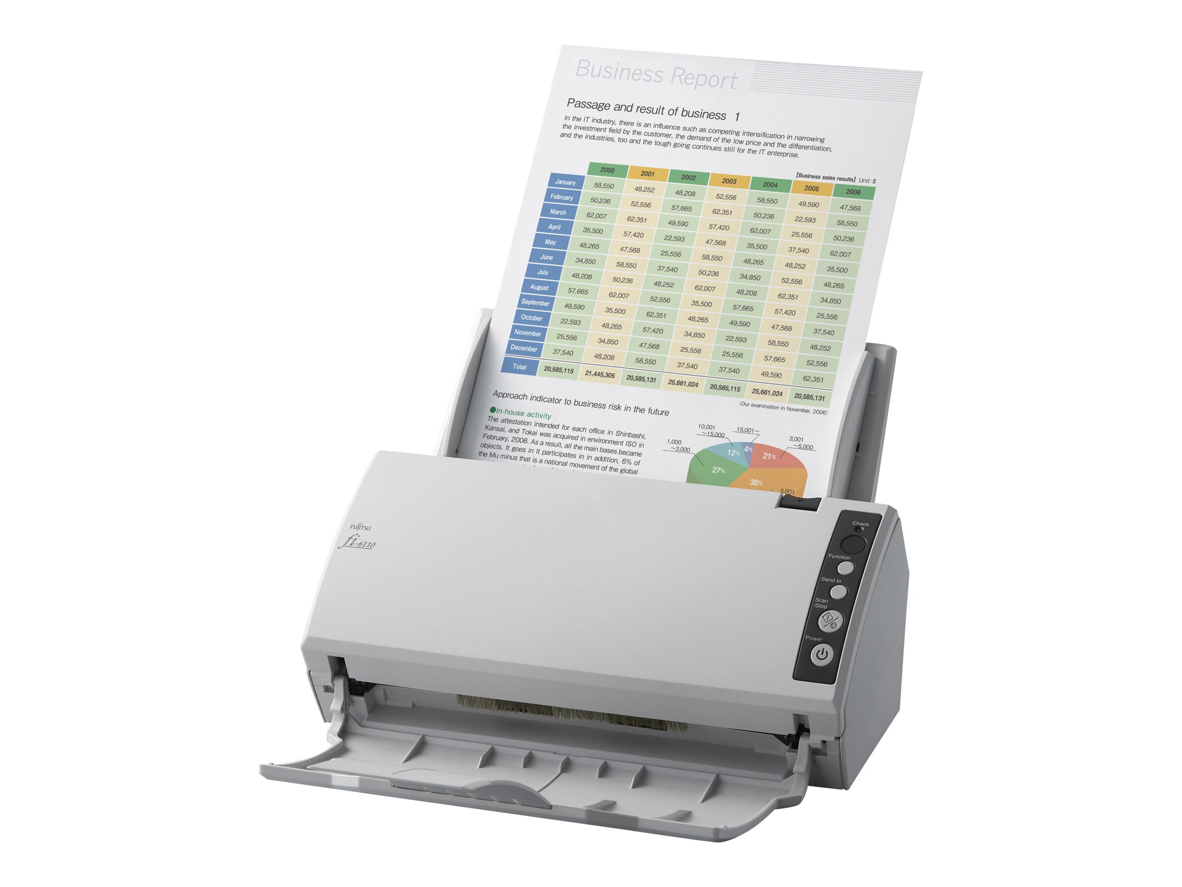 Fujitsu FI-6110 Color Production Sheetfed Scanner, PaperStream, PA03607-B065, 16780427, Scanners