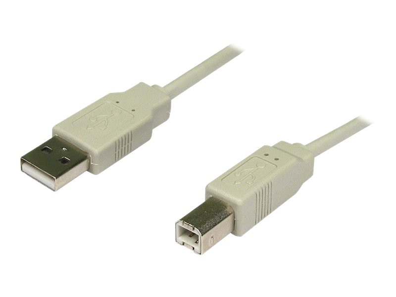 4Xem USB 2.0 Type A to Type B Cable, Beige, 3ft