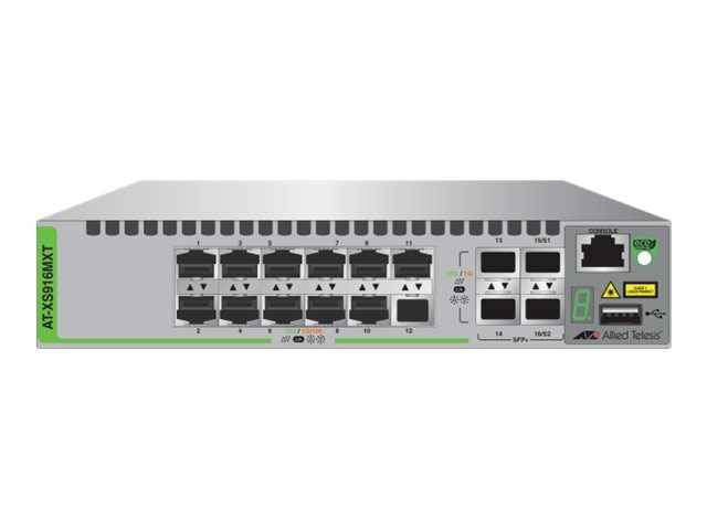 Allied Telesis 12-Port 10Gb RJ34 Stackable Switch w 4xSFP SFP+, US Power Cord