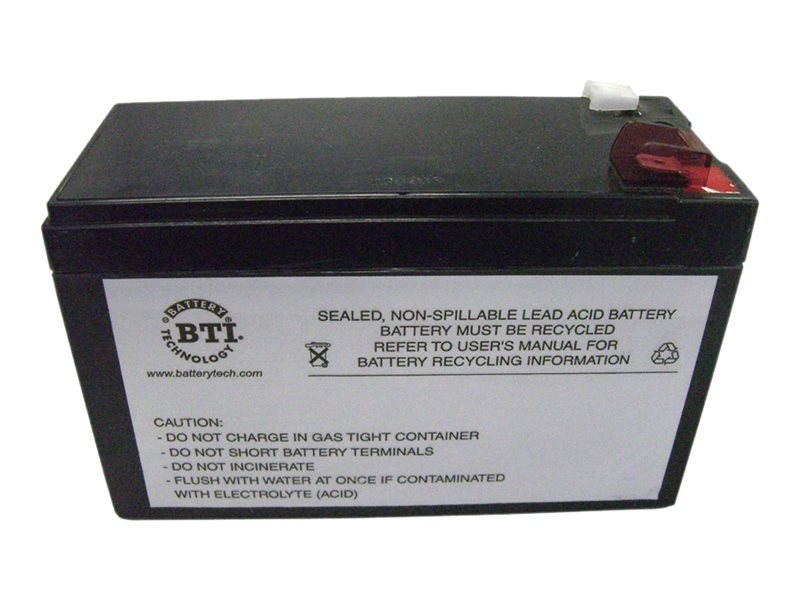 BTI Replacement Battery for use with APC BE650BB, BE650R, BE725BB, BE750G, RBC17-SLA17-BTI, 9515529, Batteries - Other